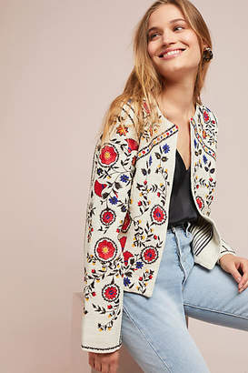 Maeve Kirian Embroidered Crop Jacket