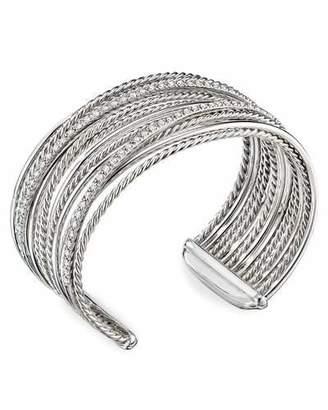 David Yurman DY Crossover Cuff Bracelet w/ Diamonds