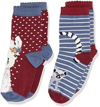 Fat Face Girl's 2Pk Llama Socks,(Manufacturer Size: 9-12)
