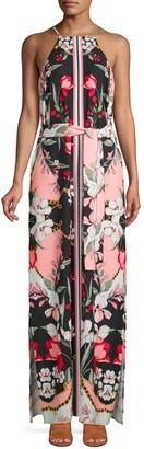 Alexia Admor Floral-Print Halter Maxi Dress