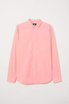 H&M Cotton Shirt Regular fit - Orange