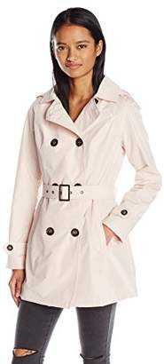 Celebrity Pink Junior's Trench Coat With Removable Hood