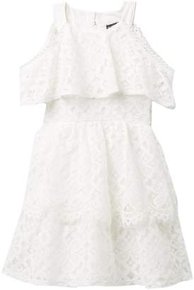 My Michelle Mymichelle Popover Lace Dress (Big Girls)