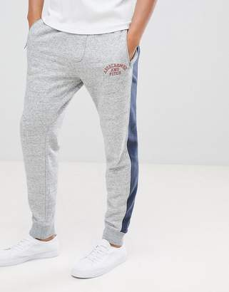 Abercrombie & Fitch americana joggers with side tapping in gray