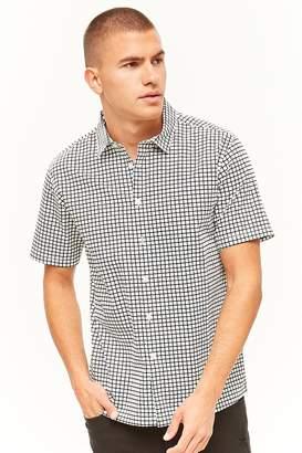 Forever 21 Grid Print Shirt