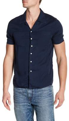 Knowledge Cotton Apparel Front Button Short Sleeve Woven Shirt