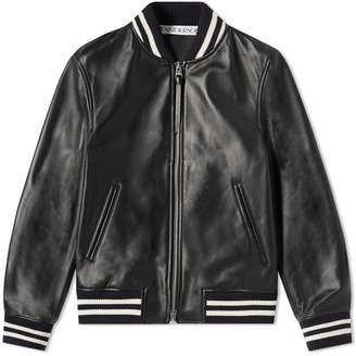 J.W.Anderson High Shine Leather Ribbed Jacket