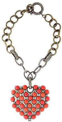 LanvinLanvin Embellished Heart Pendant Necklace
