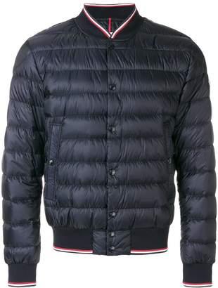 Moncler contrast trim bomber jacket