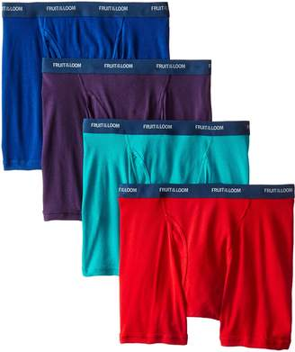 Fruit of the Loom Men's 4-Pack Low Rise Extra Leg Boxer Brief
