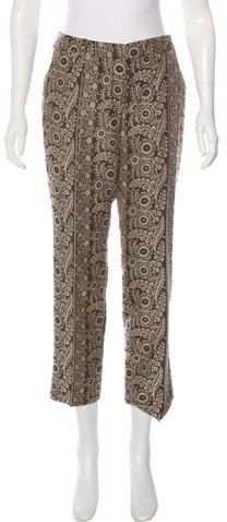 CelineCéline Floral Print Cropped Pants