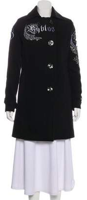 Byblos Long Sleeve Knee-Length Coat