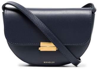 Wandler anna navy leather belt bag