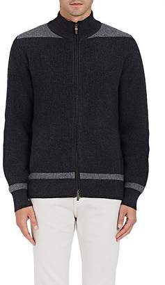 Luciano Barbera MEN'S COLORBLOCKED WOOL-CASHMERE ZIP-FRONT SWEATER