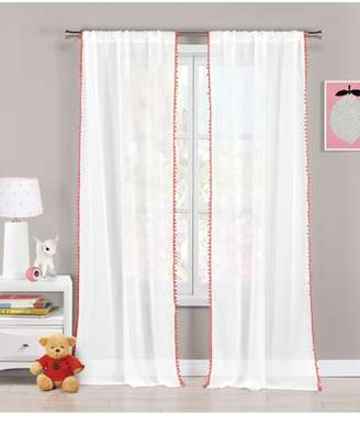 BA&SH LALA + BASH Aveline Pom Trim Curtain Panels