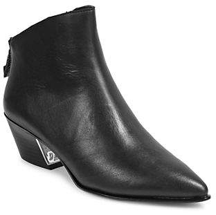 DKNY Bason Leather Zip-Up Ankle Booties