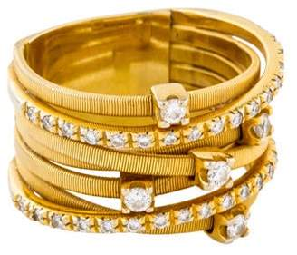 Marco Bicego 18K Diamond Goa Seven Strand Ring