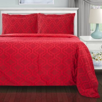 Superior Extra Soft and All Season 100 Percent Brushed Cotton Flannel Solid Duvet Cover Set