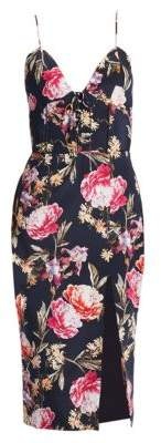 Nicholas Lucile Silk Floral Dress