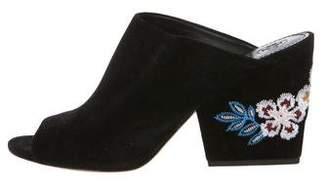 Tory Burch Suede Slide Sandals