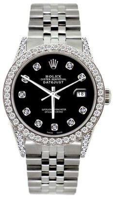 Rolex Datejust Diamond Watch 36mm $17,900 thestylecure.com