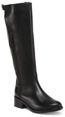 Made In Italy Leather Riding Boots