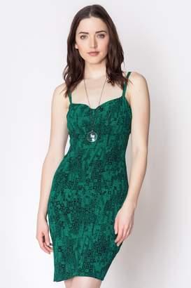 Loren Geminola Green Sophia Dress