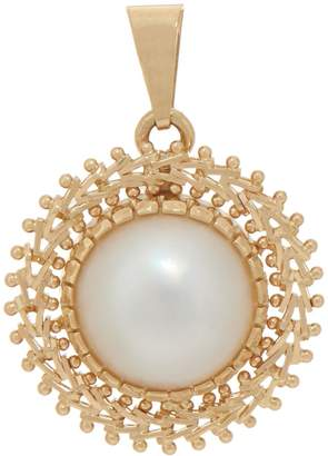 Imperial Gold Cultured Mabe Pearl Pendant, 14K Gold