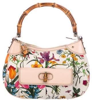 Gucci Bamboo Top Handle Flora Bag