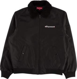 Supreme Independent Fur Collar Bomber - 'FW 17' - Black
