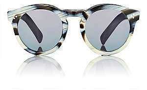 Illesteva Women's Leonard II Sunglasses-Blk ivory, Silver
