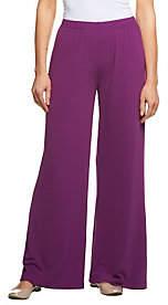 Bob Mackie Bob Mackie's Wide Leg Petite Length Knit Pants