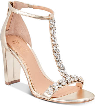 Badgley Mischka Morley Embellished Evening Sandals