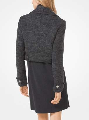 MICHAEL Michael Kors Tweed Cropped Moto Jacket