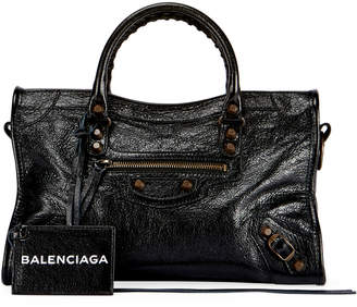 Balenciaga Classic City AJ Small Satchel Bag with Logo Strap
