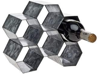 Godinger Silver Art Co Metal 6 Bottle Tabletop Wine Bottle Rack