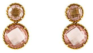 David Yurman 18K Morganite Double Drop Button Chatelaine Earrings
