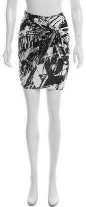 Helmut Lang Printed Mini Skirt