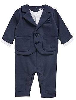 HUGO BOSS Baby boy three-piece suit in jersey fabric