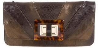 Judith Leiber Pleated Karung Clutch