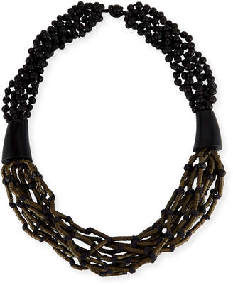 eskandar Multi-Strand Beaded Acai Necklace