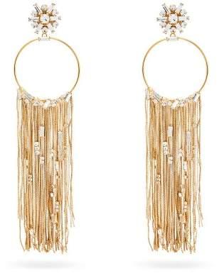 Rosantica By Michela Panero - Insanity Crystal Embellished Hoop Drop Earrings - Womens - Gold