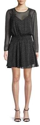Highline Collective Puff Long Sleeve Smocked Waist Dress