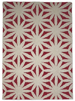 Gandia Blasco Flower Red 5x8 Rug
