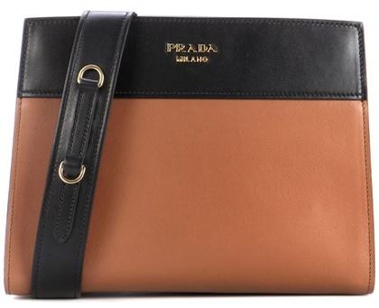 pradaPrada Esplanade leather shoulder bag