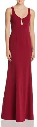 BCBGMAXAZRIA Keyhole Cutout Gown