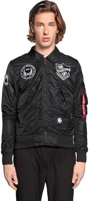 Alpha Industries Cwu Vf Lw Patch Nylon Bomber Jacket
