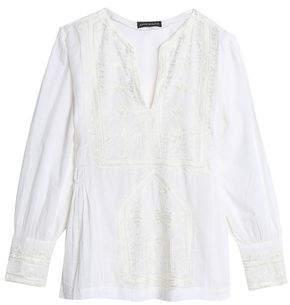 Antik Batik Embroidered Cotton-Voile Blouse