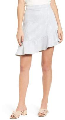 BP Asymmetrical Ruffle Hem Skirt
