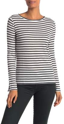 14th & Union Buttoned Long Sleeve Striped Tee